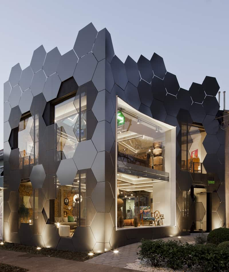 Home Design Ideas Elevation: Honeycomb Inspired Facade: Estar M Veis By SuperLim O Studio