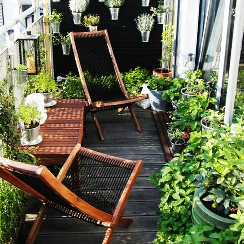 35 Balcony Designs and Beautiful Ideas for Decorating ... on Small Garden Sitting Area Ideas id=20466