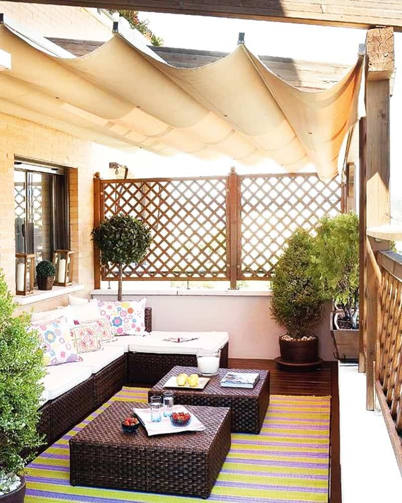 Outdoor Terrace Garden Seating Areas
