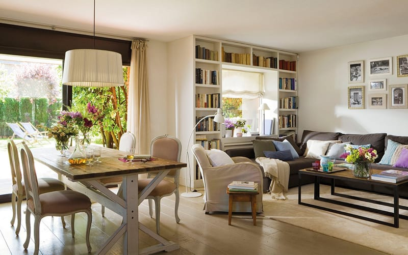 Bright and cozy dreamy house displaying charming decors - Cortinas de salon clasicas ...