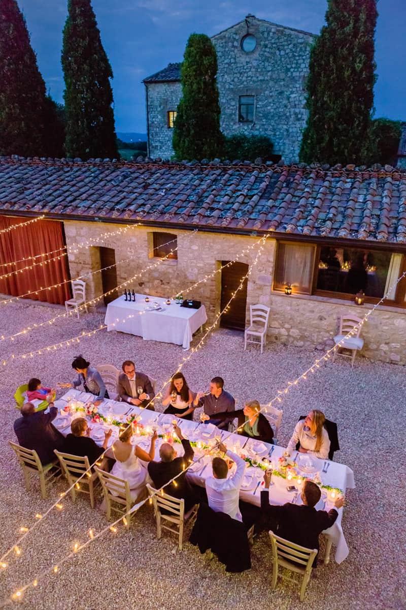 wedding dinner outdoor