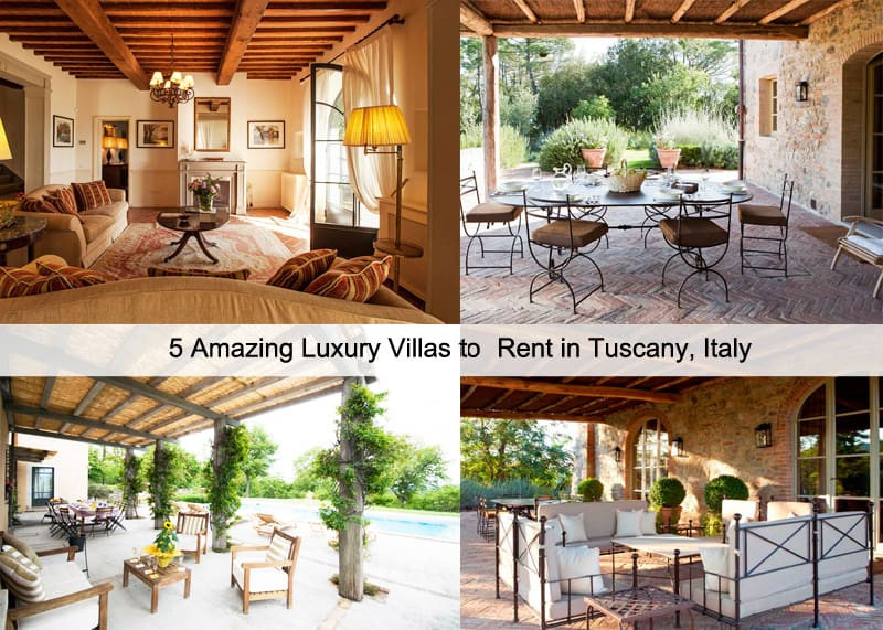 5 amazing luxury villas for rent in tuscany italy for Rent a house in tuscany