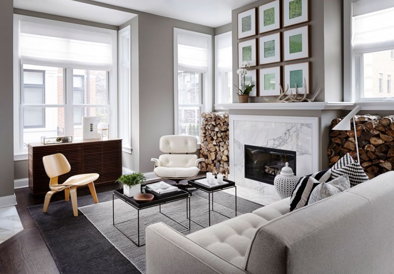 Chic And Modern Townhouse By Gabriel Fontes De Faria, Chicago