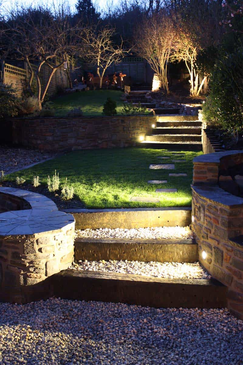 15 Attractive Step Lighting Ideas for Outdoor Spaces on Outdoor Patio Design Ideas id=53542