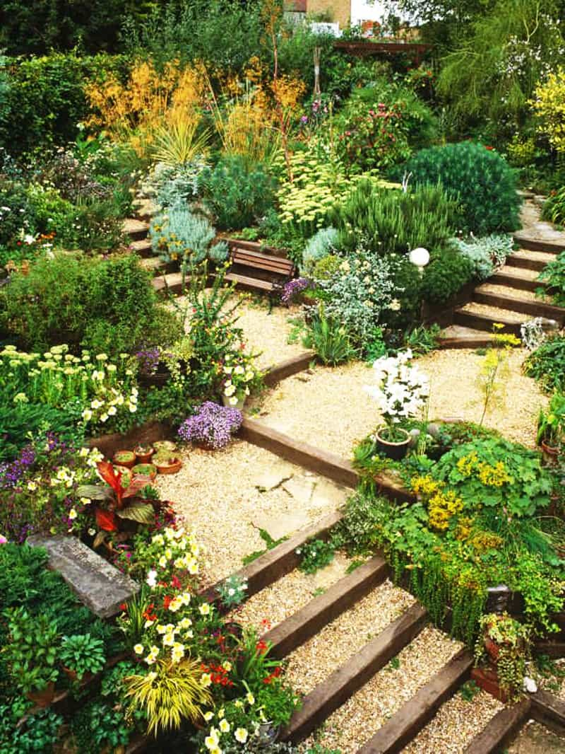 Sloped Landscape Design Ideas Designrulz (11)