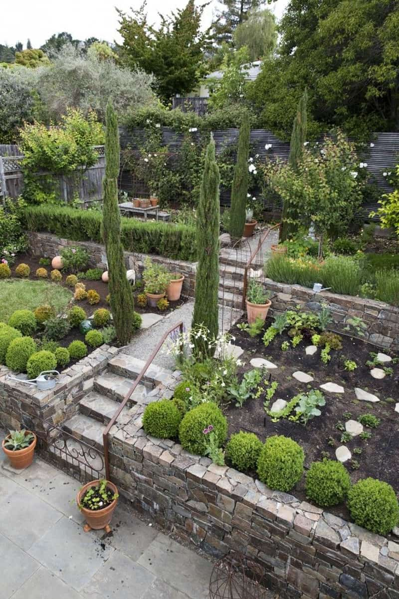 Amazing ideas to plan a sloped backyard that you should for Garden design ideas new build