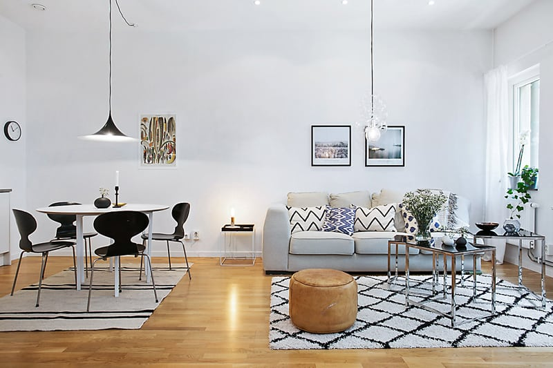 The most attractive 10 scandinavian apartment designs for Scandinavian design