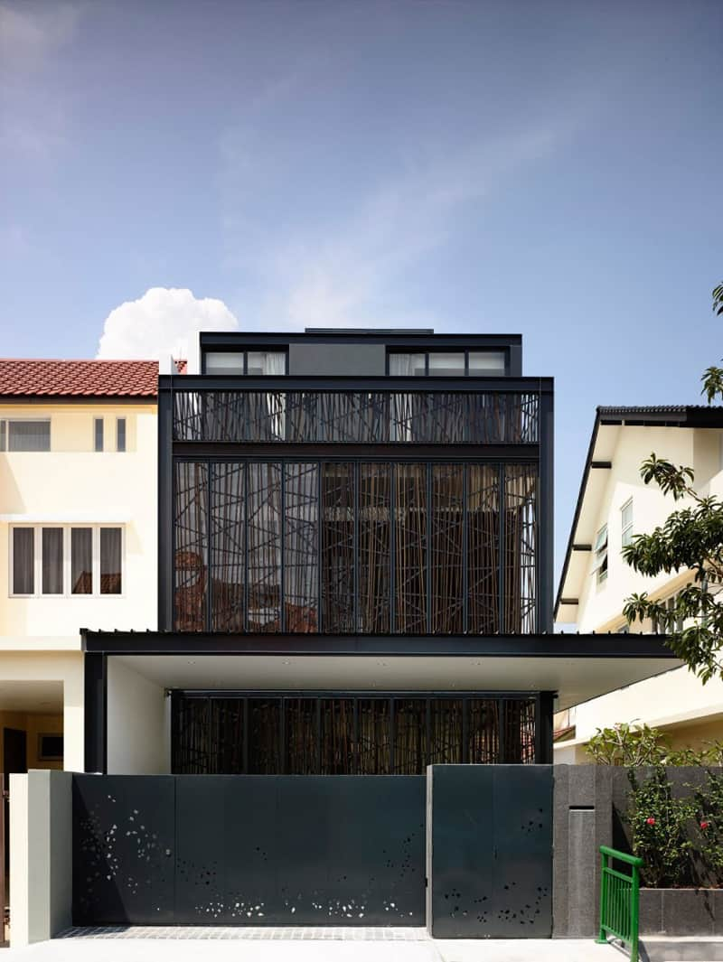 Semi detached dwelling house with attic by hyla architects for Semi detached house design