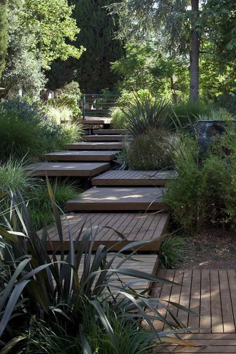 40 Ideas of How To Design Exterior Stairways on Backyard Stairs Design id=78259