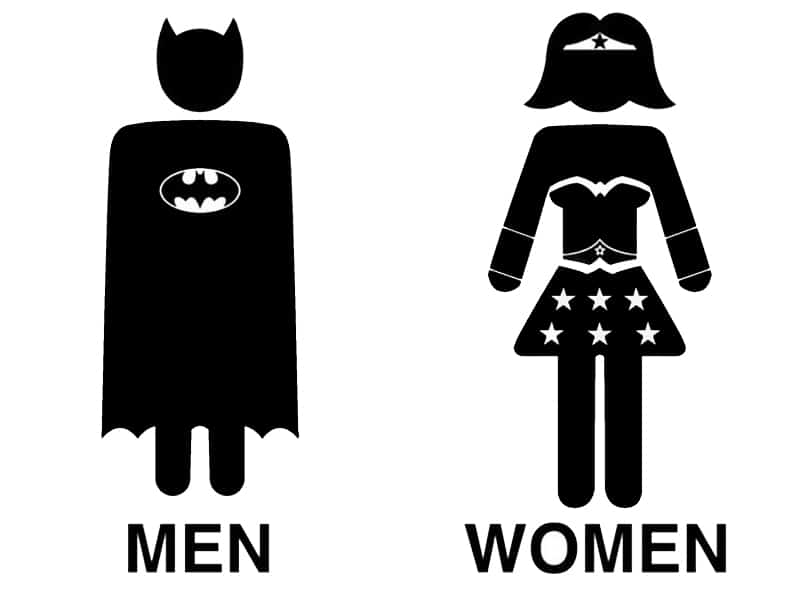 22 creative and funny toilet signs for Puerta wonder woman