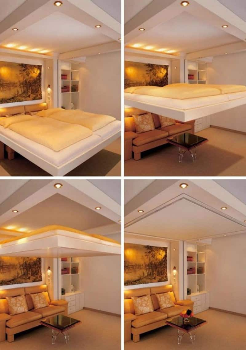 25 ideas of space saving beds for small rooms - Master bedroom ideas for small spaces ...