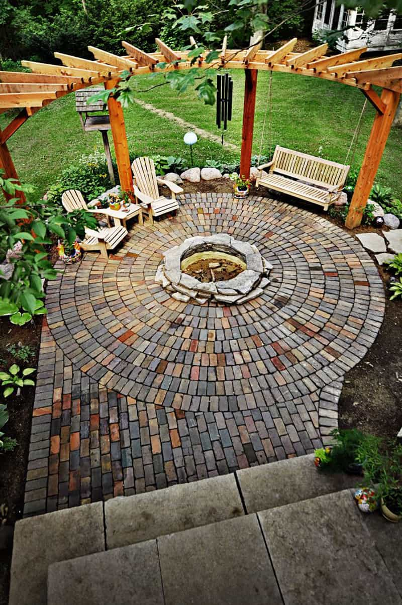 Inspirational  fire pit patio Design Ideas