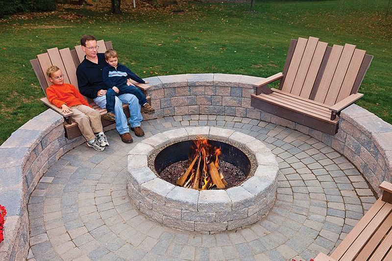 Fabulous  fire pit patio Design Ideas
