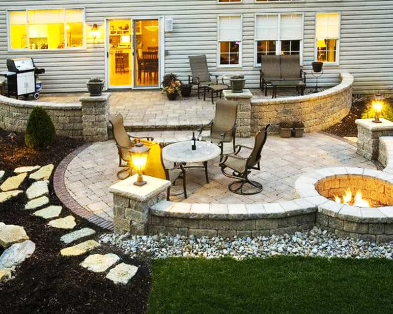 Fancy  fire pit patio Design Ideas
