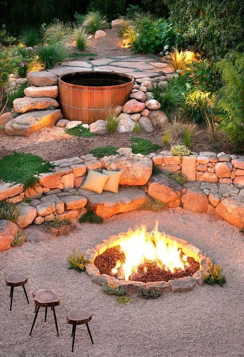 Elegant  fire pit patio Design Ideas