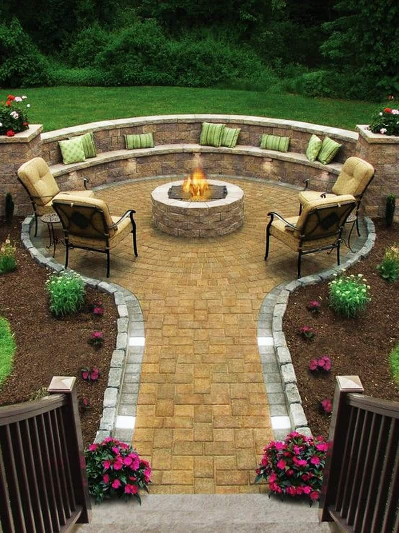 Nice  fire pit patio Design Ideas