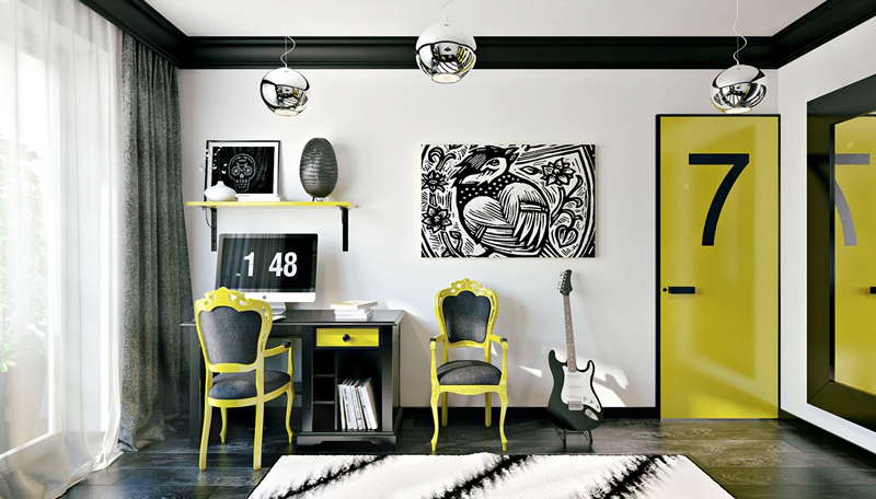 Black White And Yellow Bedroom Ideas 3 Cool Inspiration Ideas