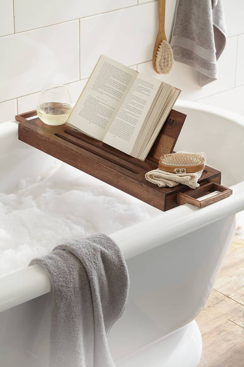 caddy langria products bathtub bamboo bath tray
