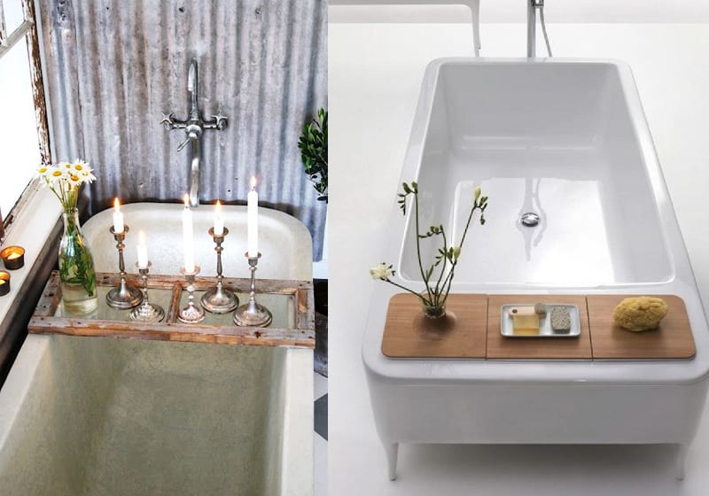 Bath tub caddy designrulz  4. 22 Cool Bathtub Caddies or Marvelous Bathtub Tray Design Ideas To