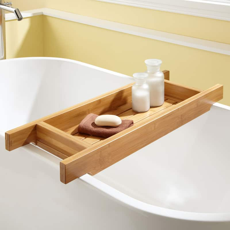 Bath tub caddy designrulz  6. 22 Cool Bathtub Caddies or Marvelous Bathtub Tray Design Ideas To