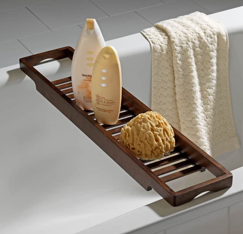 22 cool bathtub caddies or marvelous bathtub tray design for Bathroom tray decor