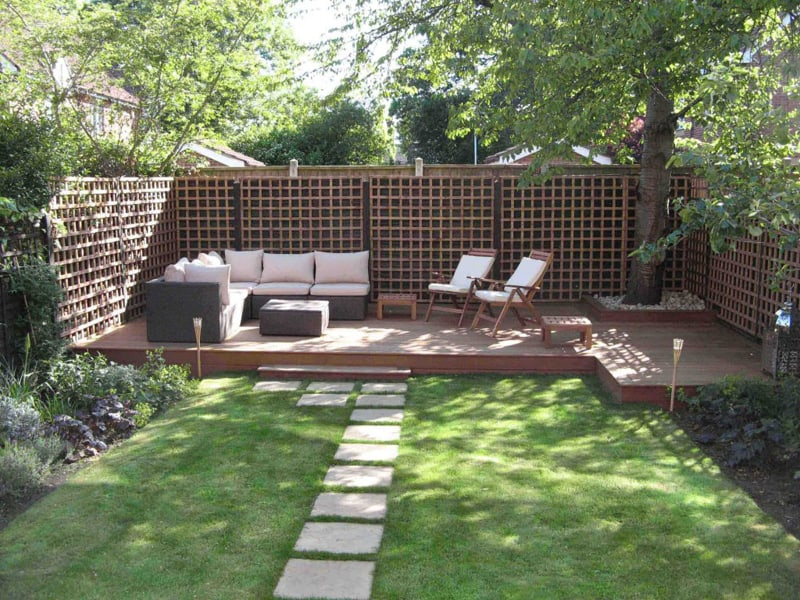 20 Cheap Landscaping Ideas For Backyard on Small Backyard Patio Designs id=23312