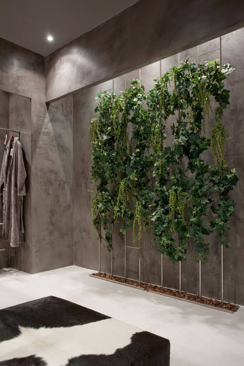 An Exotic Indoor Garden Surrounding A Zen Inspired Bath