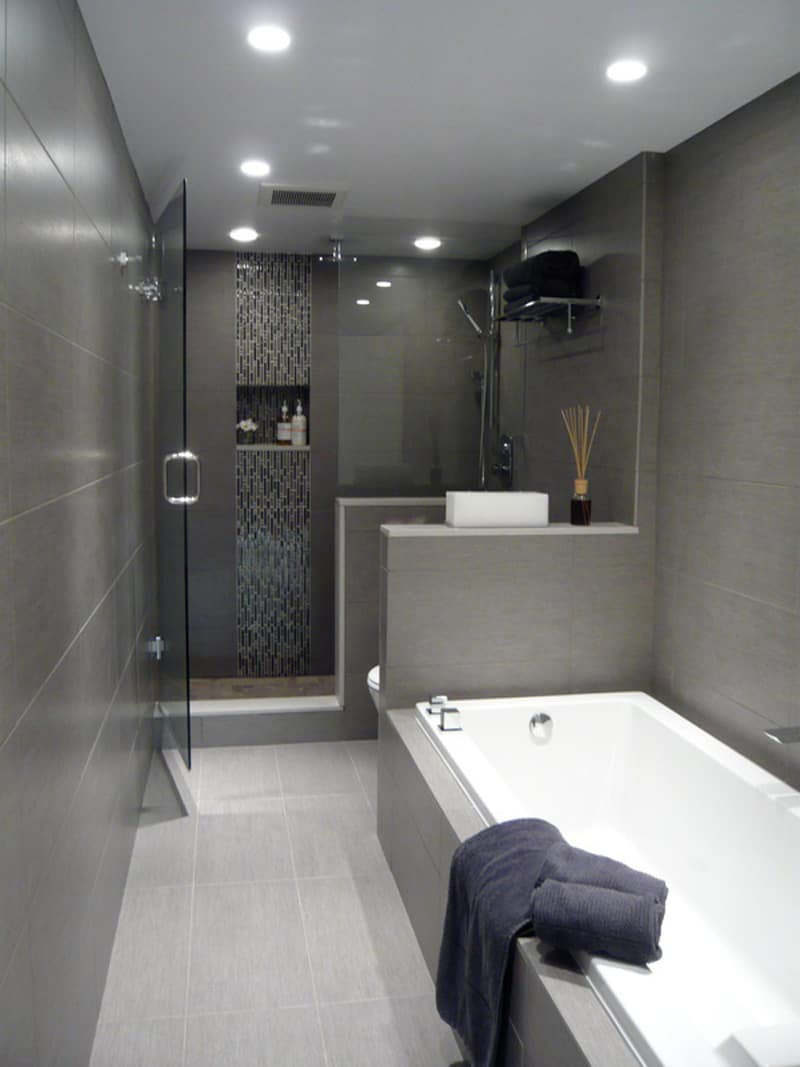 25 gray and white small bathroom ideas for Bathroom styles 2016