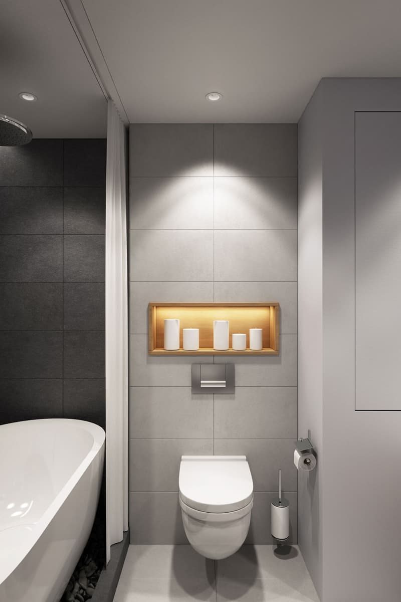 25 gray and white small bathroom ideas for Bathrooms r us melbourne