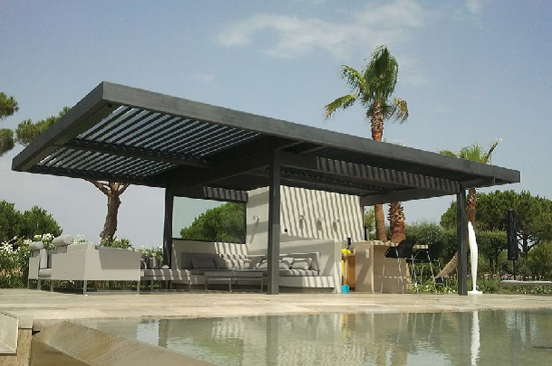 20 aluminum pergola design ideas - Pergolas de aluminio para jardin ...