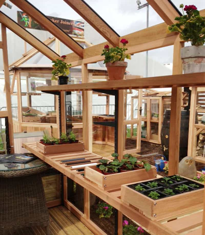 greenhouses designrulz 19 - 18+ Small Greenhouse Interior Layout Ideas Background