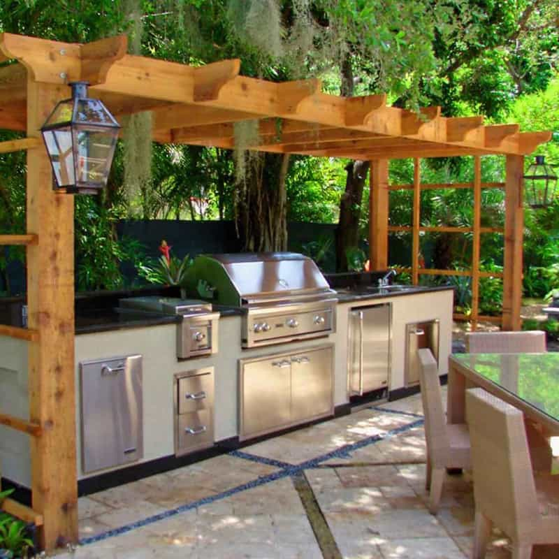 outdoor kitchen design idea 30 outdoor kitchens and grilling stations 496