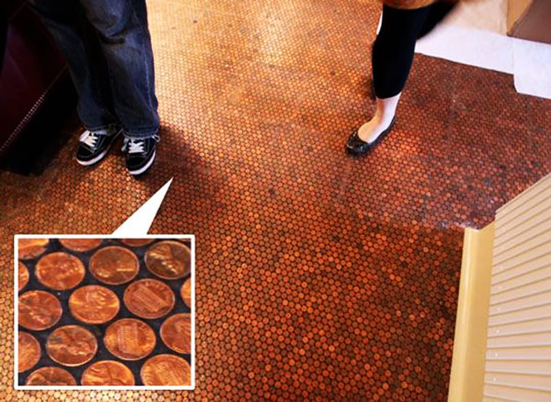 Cents And Sensibility How To Install A Copper Penny Floor - Copper penny floor grout