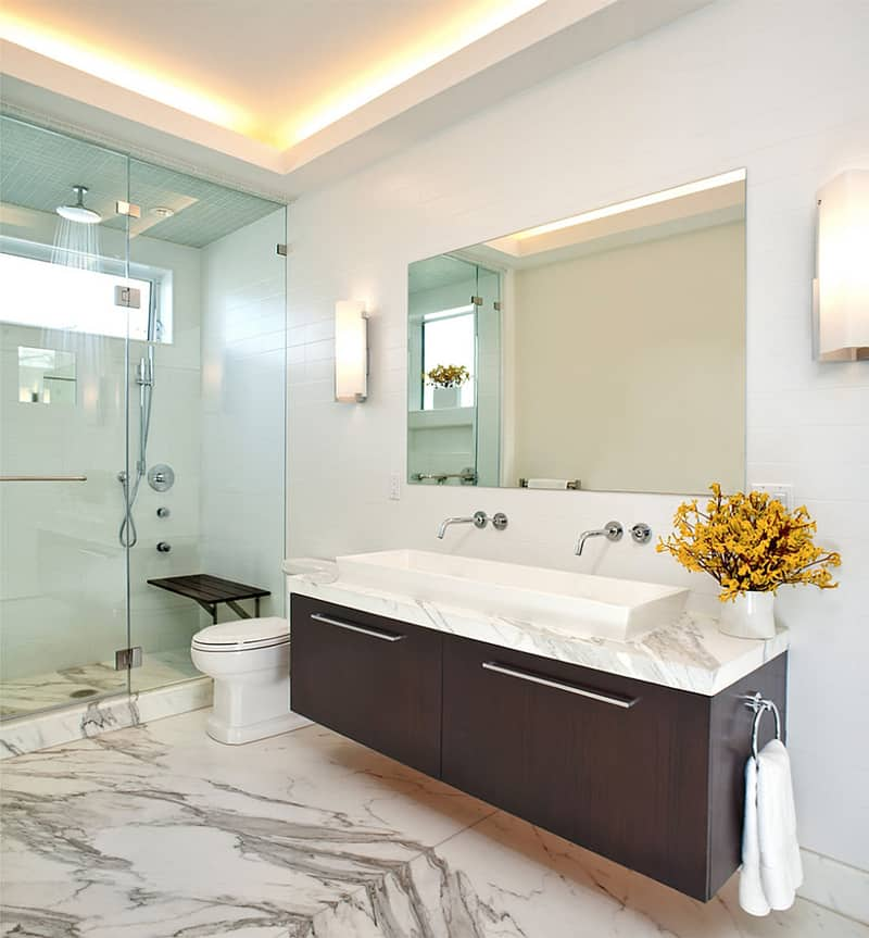 Latest bathroom design trends for Bathroom lighting trends 2016