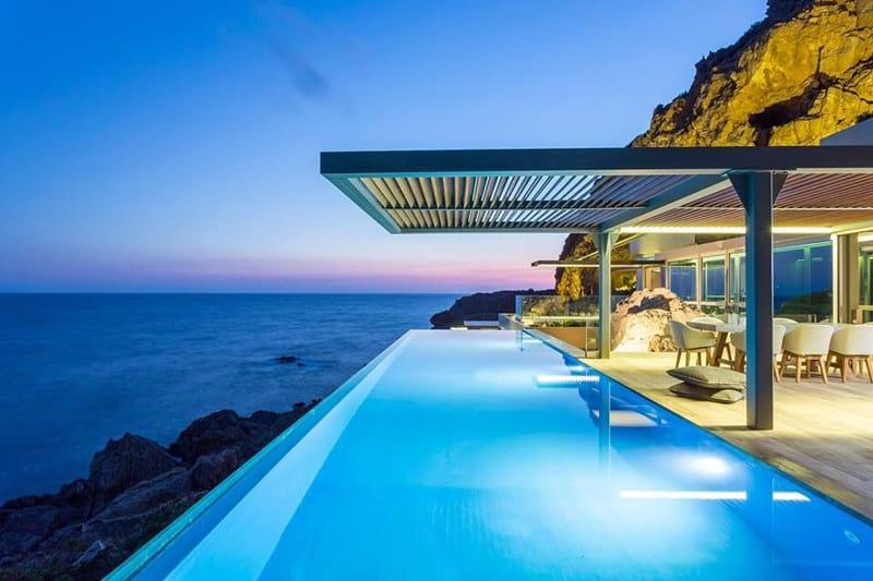 Luxurious seaside retreat villa hermes crete greece for Design hotel crete