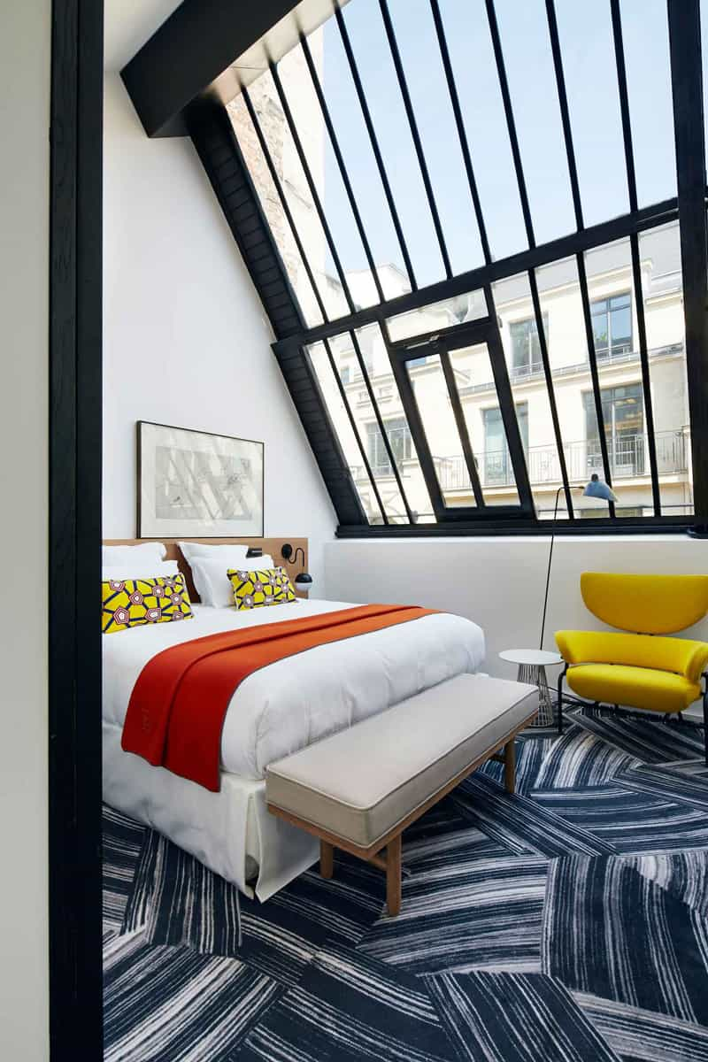 Hotel Room Design: New Rooms With Mondrian-inspired Colour At Hôtel Du