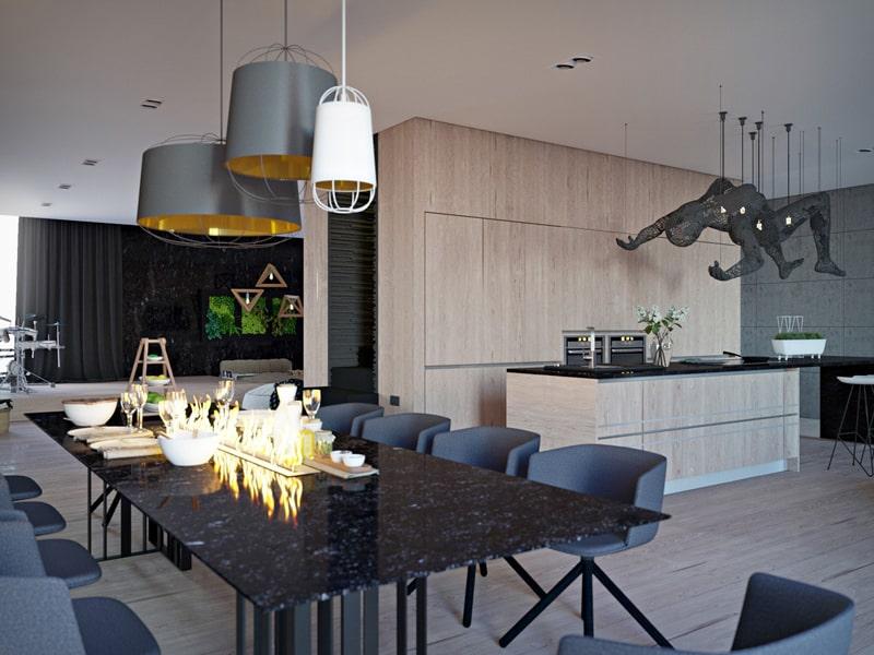 Ilya Taslitskiy-black-marble-dining-table