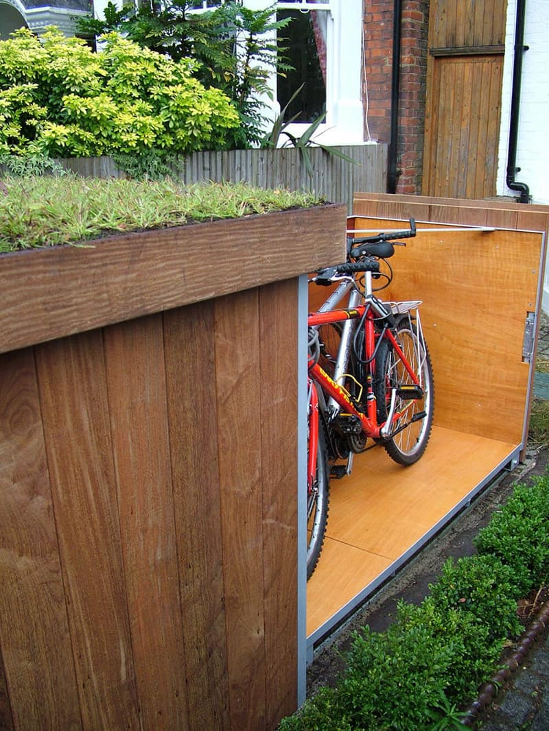 Outdoor bike garage designrulz 15
