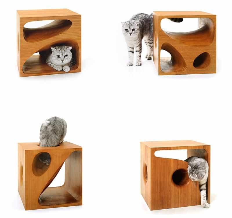 Sculptural Wood Cubes Designed For Playful Cats_designrulz (7)