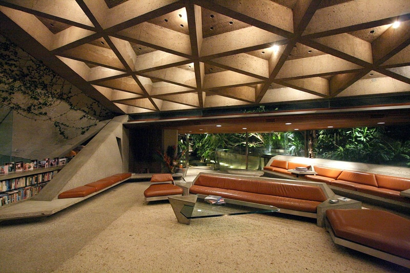 Sheats goldstein residence by john lautner beverly hills california - How put cement foundations ceilings ...