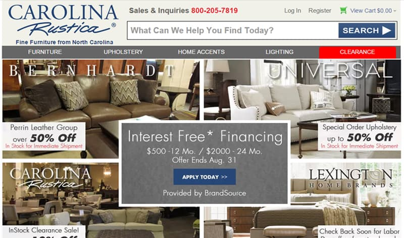 33 best online furniture stores for Best place to sell furniture online