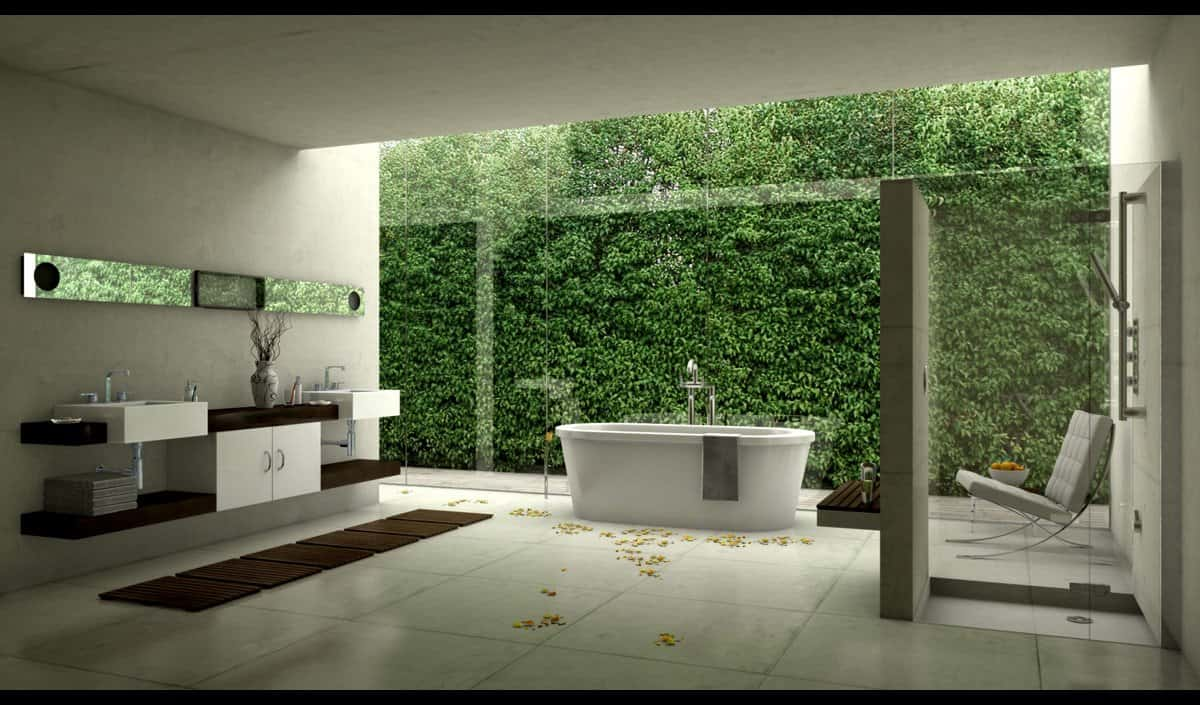 Creative Stunning Designer Spacious Bathroom Idea