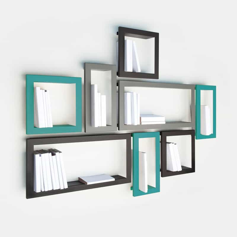 creative wall decoration with picture frame shelves. Black Bedroom Furniture Sets. Home Design Ideas