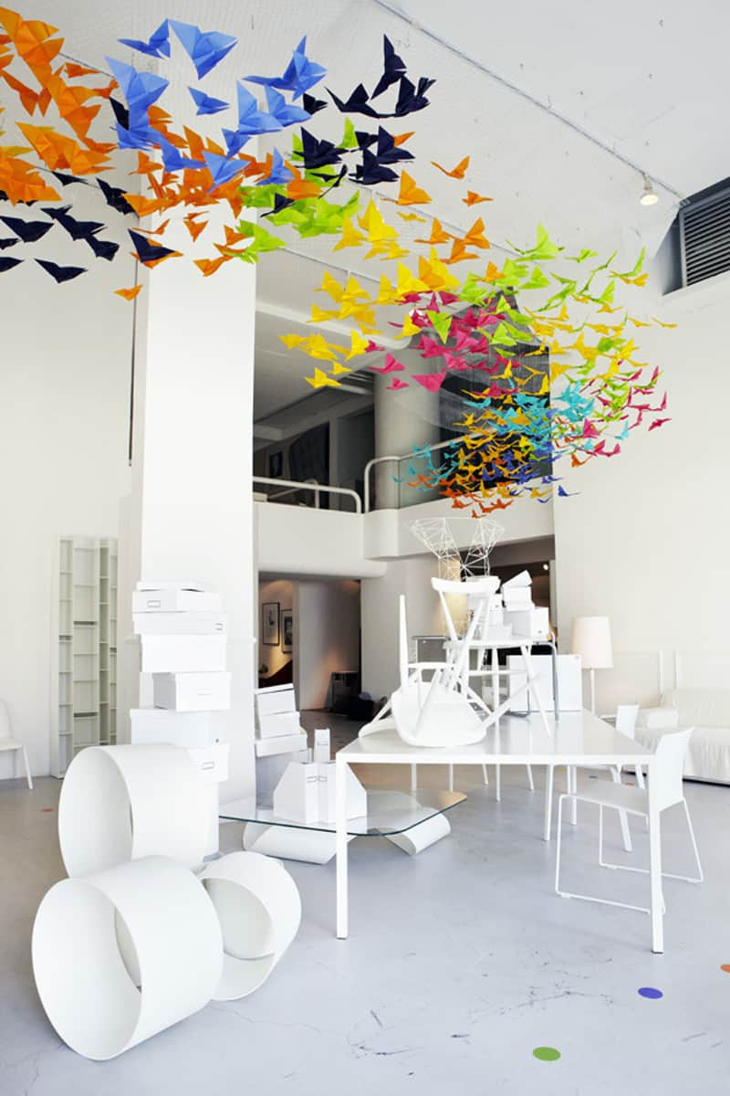Amazing Art Installation Origami Butterflies By Dream