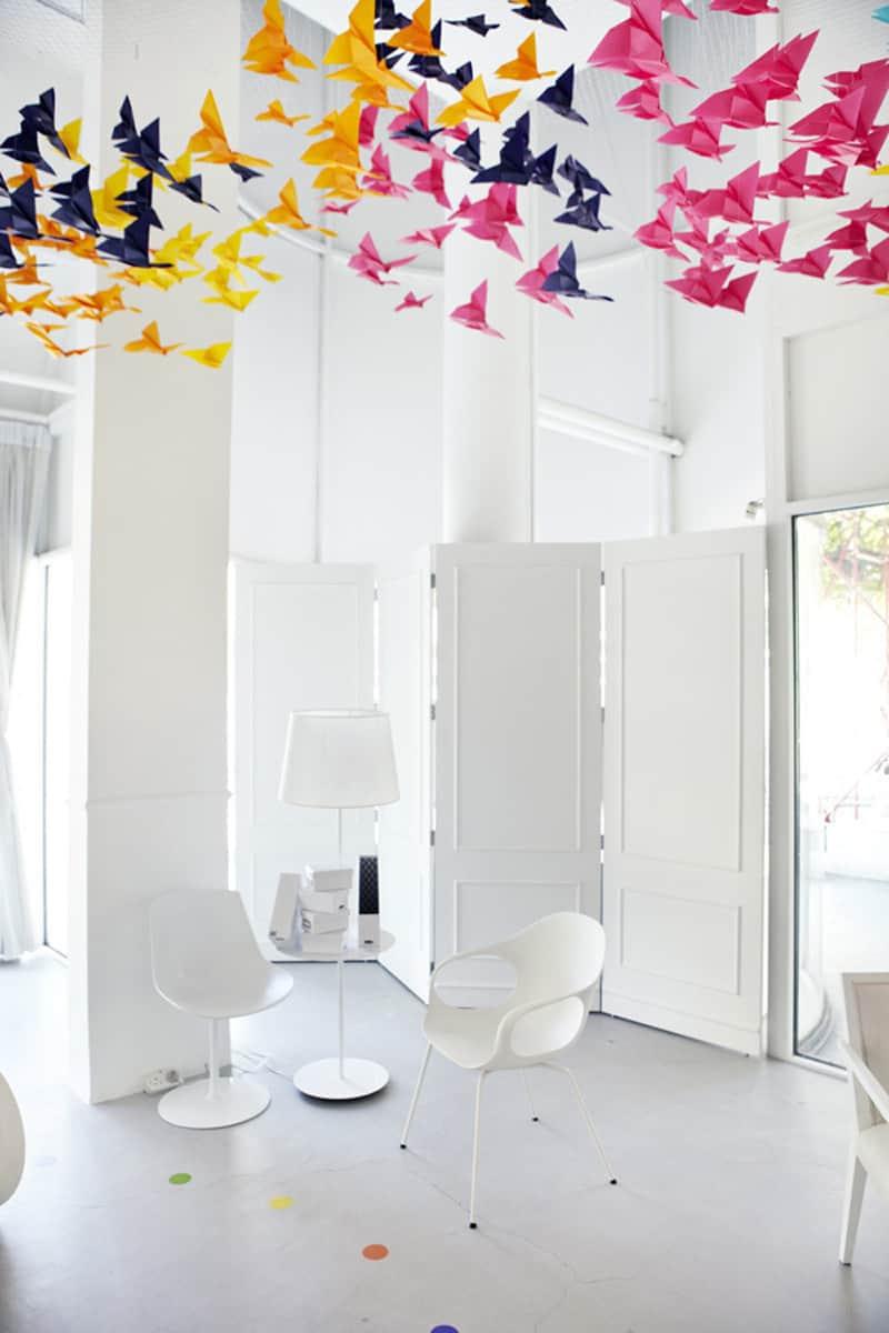 Amazing Art Installation Origami Butterflies By Dream