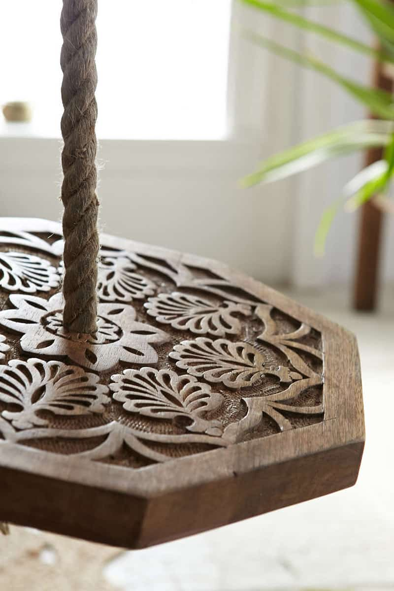 Magical Thinking Carved Wood Indoor Swing (1)
