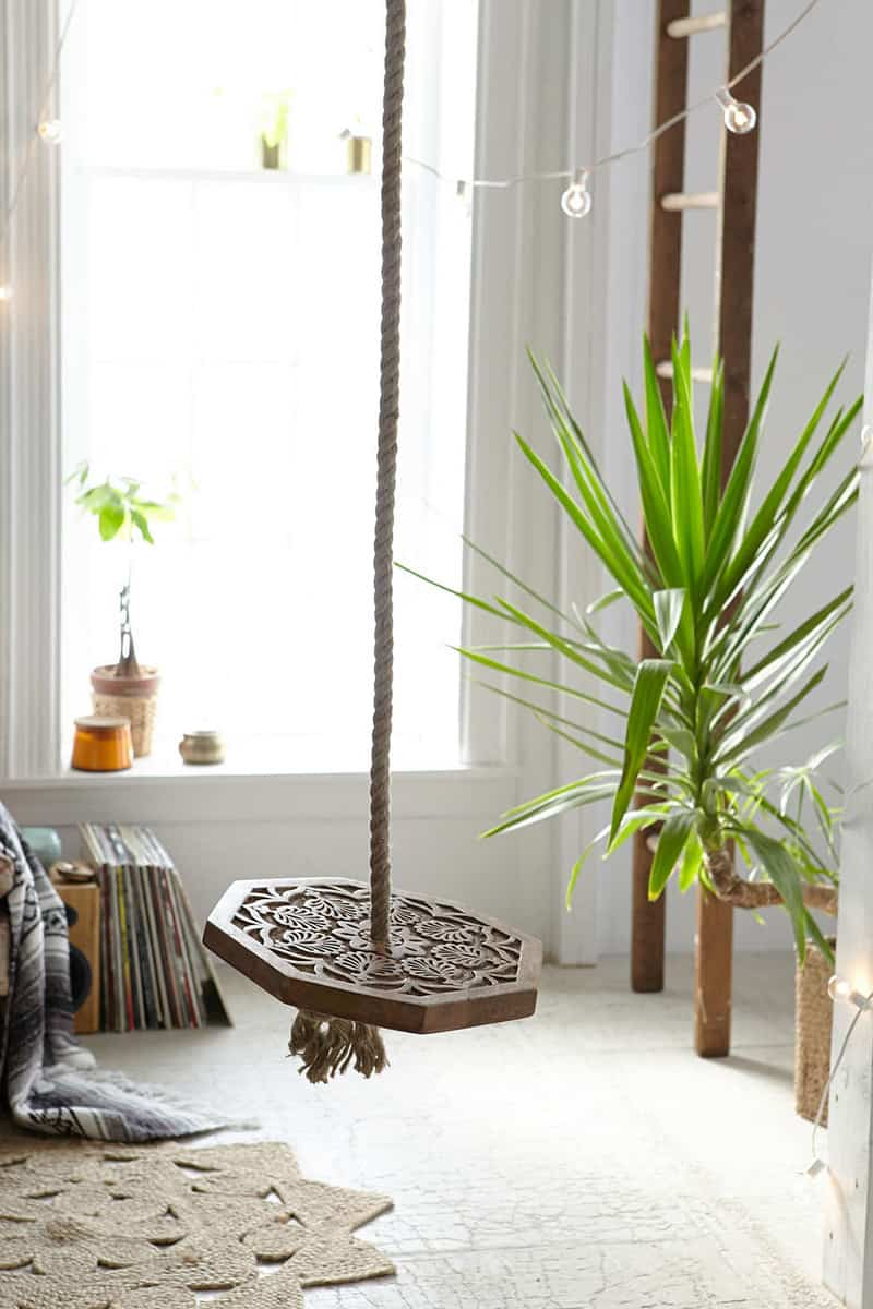 Magical Thinking Carved Wood Indoor Swing (3)