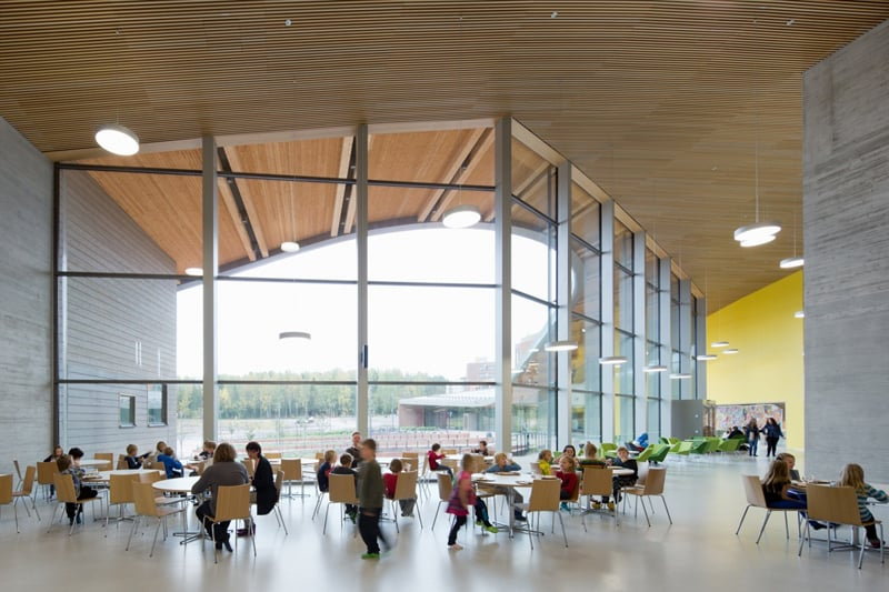 Saunalahti school in Espoo, Finland Photo by Andreas Meichsner for Verstas architects