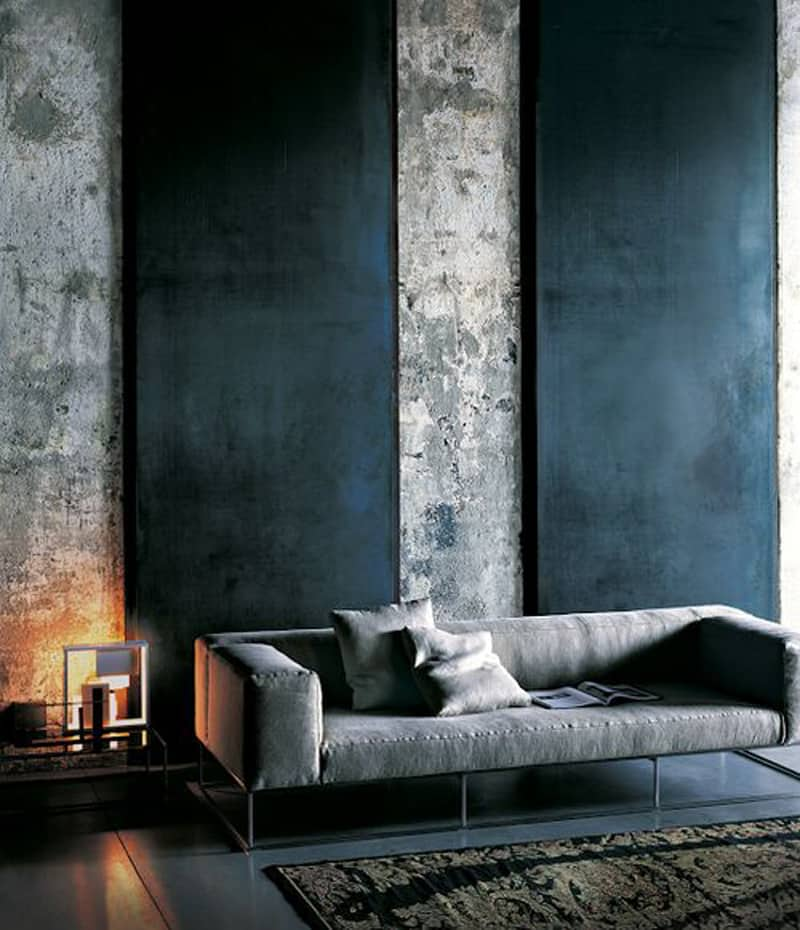 35 Captivating Living Room Designs With Concrete Wall