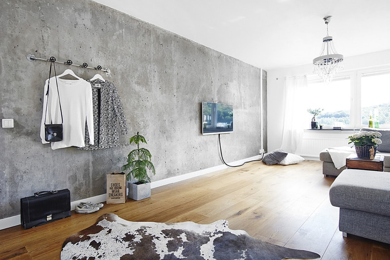 Home Design Ideas Pictures: 35 Captivating Living Room Designs With Concrete Wall